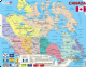 Map of Canada with Flags- Frame/Board Jigsaw Puzzle 29cm x 37cm (LRS  K11-V1)